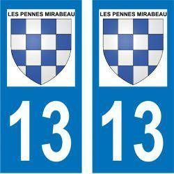 Sticker Plaque Les Pennes-Mirabeau 13170