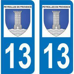 Autocollant Plaque Peyrolles-en-Provence 13860