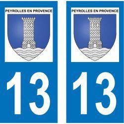 Sticker Plaque Peyrolles-en-Provence 13860