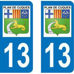 Autocollant Plaque Plan-de-Cuques 13380
