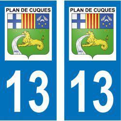 Sticker Plaque Plan-de-Cuques 13380