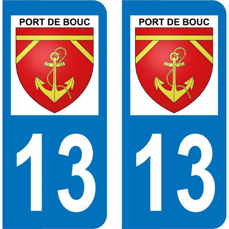 Autocollant Plaque Port-de-Bouc 13110