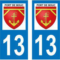 Sticker Plaque Port-de-Bouc 13110