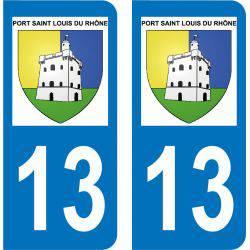Autocollant  Plaque Port-Saint-Louis-du-Rhône 13230