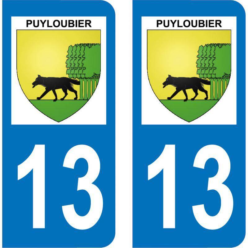Autocollant Plaque Puyloubier 13114