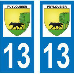 Sticker Plaque Puyloubier 13114