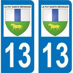 Autocollant  Plaque Le Puy-Sainte-Réparade 13610