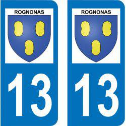 Autocollant Plaque Rognonas 13870