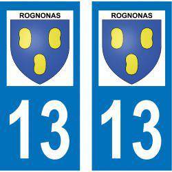 Sticker Plaque Rognonas 13870