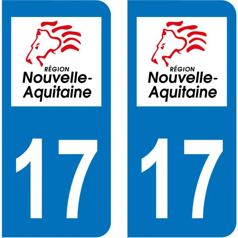 Sticker Plaque 17 Charente-Maritime