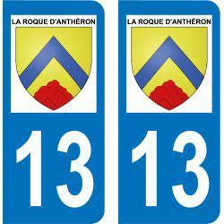 Autocollant  Plaque La Roque-d'Anthéron 13640