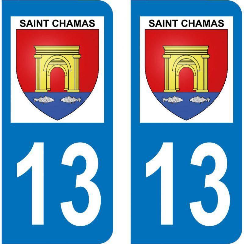 Autocollant Plaque Saint-Chamas 13250