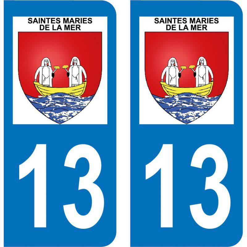 Autocollant Plaque Saintes-Maries-de-la-Mer 13460