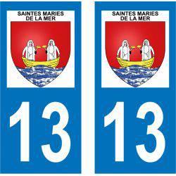 Sticker Plaque Saintes-Maries-de-la-Mer 13460