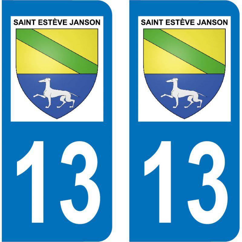 Autocollant  Plaque Saint-Estève-Janson 13610