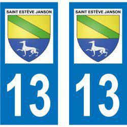 Sticker Plaque Saint-Estève-Janson 13610