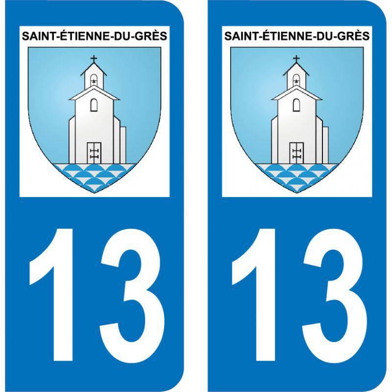 Autocollant  Plaque Saint-Étienne-du-Grès 13103