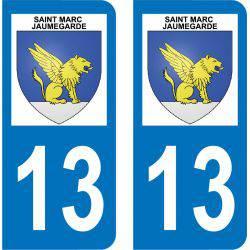 Autocollant  Plaque Saint-Marc-Jaumegarde 13100