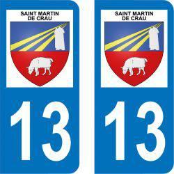 Autocollant  Plaque Saint-Martin-de-Crau 13310