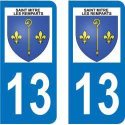Autocollant Plaque Saint-Mitre-les-Remparts 13920