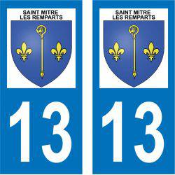 Sticker Plaque Saint-Mitre-les-Remparts 13920