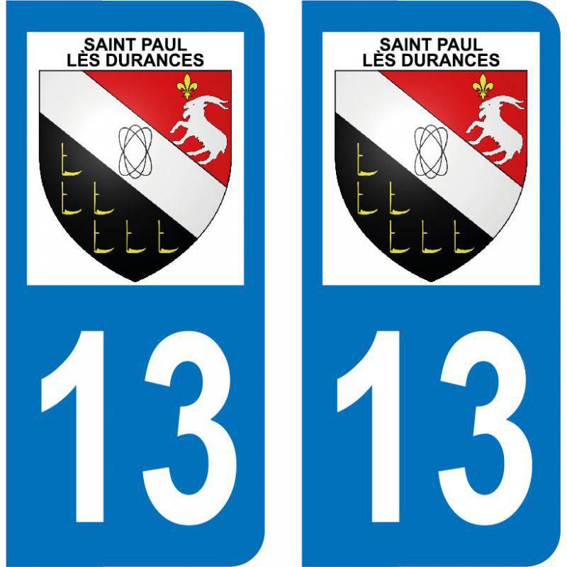 Autocollant  Plaque Saint-Paul-lès-Durance 13115