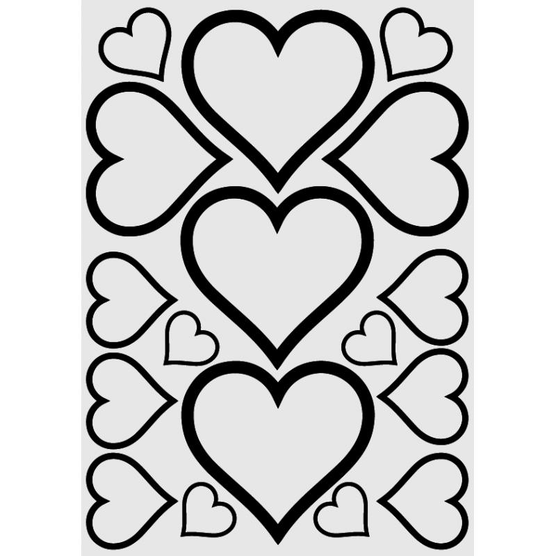 Sticker Mural Plaquette de Stickers Cœur - 2
