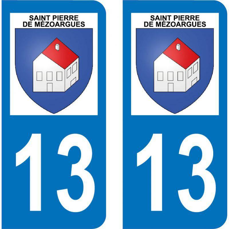 Autocollant  Plaque Saint-Pierre-de-Mézoargues 13150