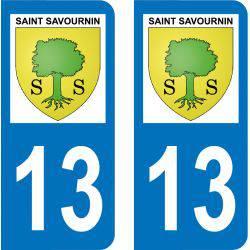 Autocollant Plaque Saint-Savournin 13119