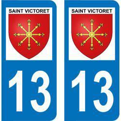 Autocollant Plaque Saint-Victoret 13730
