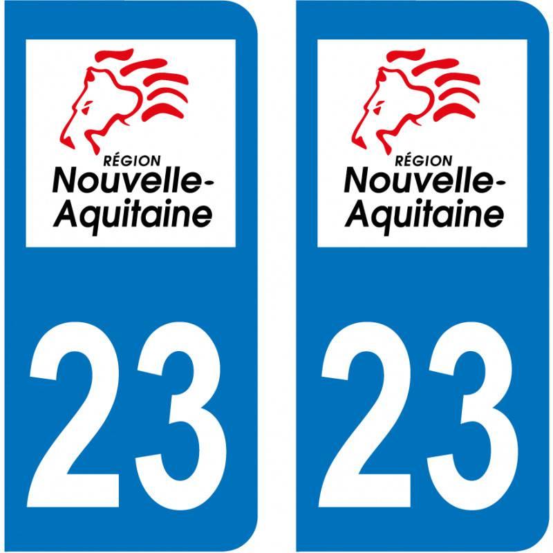 Sticker Plaque 23 Creuse