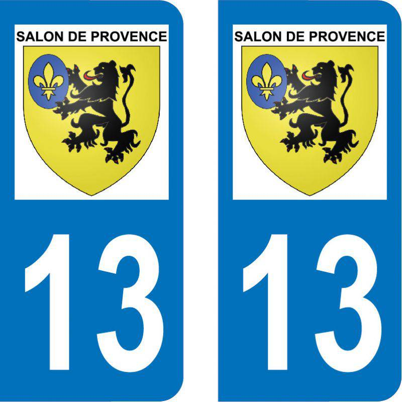 Autocollant Plaque Salon-de-Provence 13300
