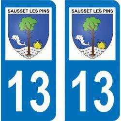 Autocollant Plaque Sausset-les-Pins 13960