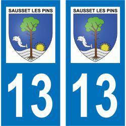 Sticker Plaque Sausset-les-Pins 13960