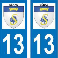 Sticker Plaque Sénas 13560
