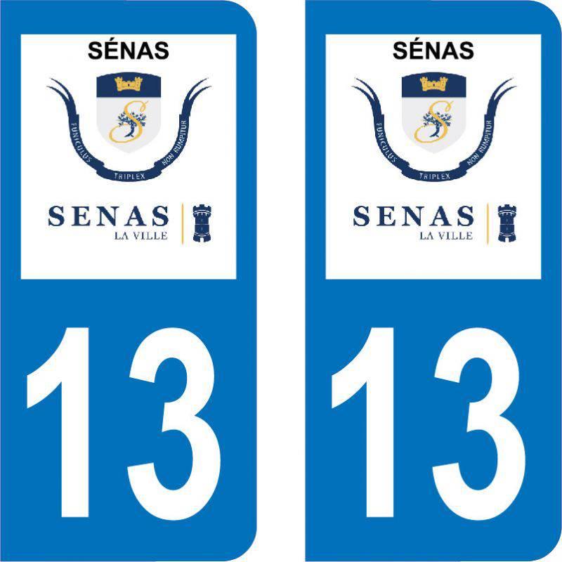 Autocollant Plaque Sénas 13560
