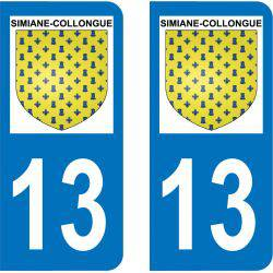 Autocollant Plaque Simiane-Collongue 13109