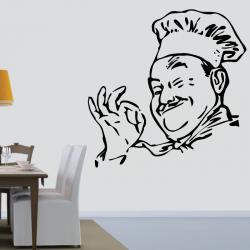 Sticker Mural Chef Cuisinier