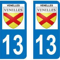 Autocollant Plaque Venelles 13770