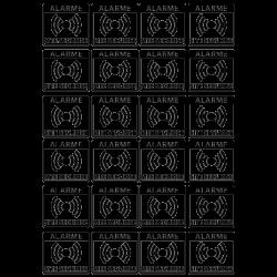 Plaquette de Mini Stickers Alarme Site Securise Transparent - 8