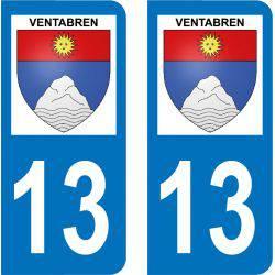 Autocollant Plaque Ventabren 13122