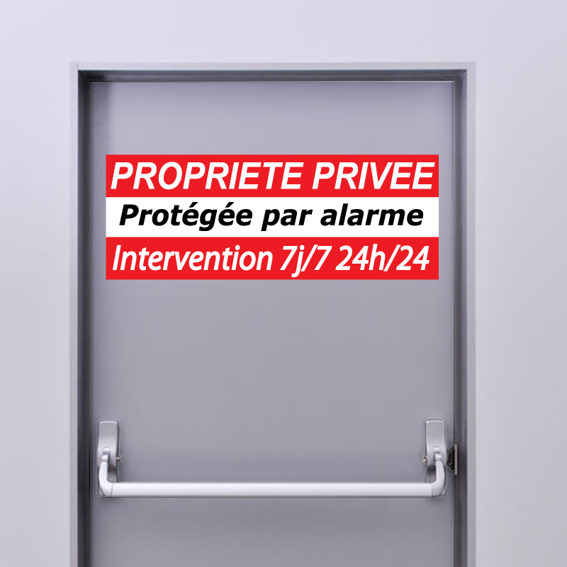 Plaquette Sticker Alarme PROPRIETE PRIVEE
