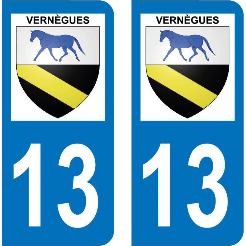 Autocollant Plaque Vernègues 13116