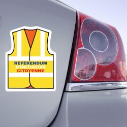 Autocollant Gilet Jaune Référendum d'Initiative Citoyenne
