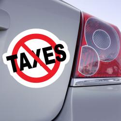 Autocollant interdit Taxes Stop Taxes