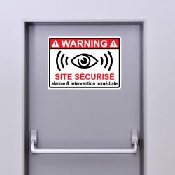 4 Stickers Alarme Site...