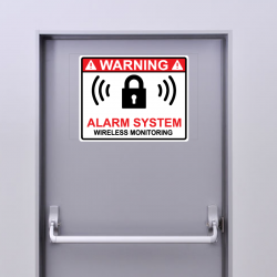 4 Stickers Alarme System