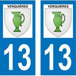 Sticker Plaque Verquières 13670