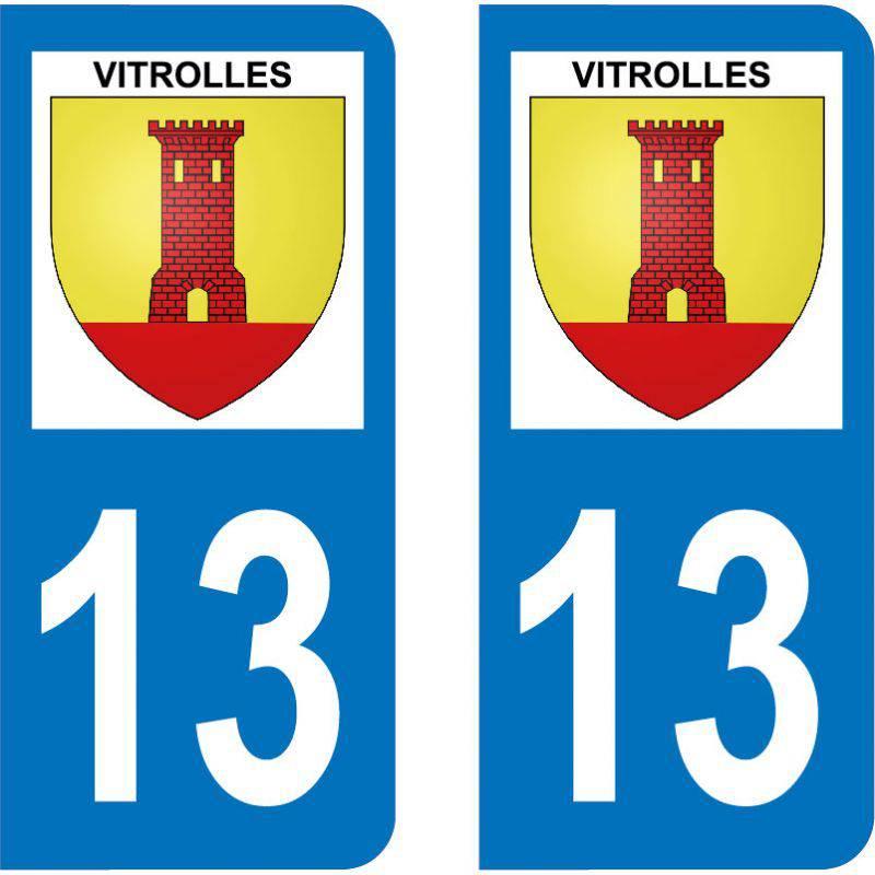 Autocollant Plaque Vitrolles 13127