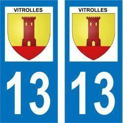 Sticker Plaque Vitrolles 13127